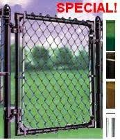Green Chain Link Fence Gate 3x3 Chainlink Fence Parts Supplies