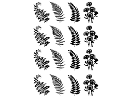 Fern Fronds 1 1 8 Black 739 Or White 751 Fused Glass Decals Captive Decals