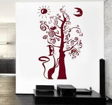 Wall Vinyl Decal Fairytale Tree Moon Sun Cat Birds Nursery Children Decor Z3770 Ebay