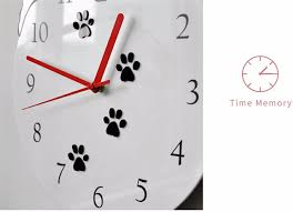 3d Wall Clock Frameless Wall Clock Cute Dog Kids Wall Clocks Room Decorative Clock With Unique Lovely Cartoon Shape 12inch White Amazon Ca Home Kitchen