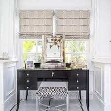 black tapered legs makeup desk design ideas