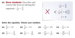 solving equations mrs witt s class