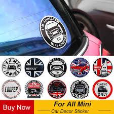 Fashion Union Jack Sticker Decals Window Decor For Mini Cooper One Countryman F55 F56 R55 R56 R60 F60 Car Styling Accessories Car Stickers Aliexpress