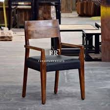 furniture wooden dining arm chair