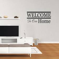 Wall Decal Quote Welcome To Our Home Vinyl Art Home Decor Pc876 Walmart Com Walmart Com