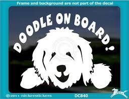Doodle On Board Car Decal Dog Decals Dog Window Goldendoodle