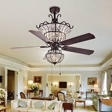 chandelier ceiling fan elegant crystal