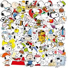 10 100pcs Cartoon Snoopy Stickers For Suitcase Skateboard Laptop Luggage Fridge Phone Car Styling Diy Decal Sticker Wish