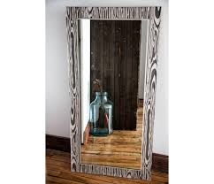 faux bois mirror frame prisma