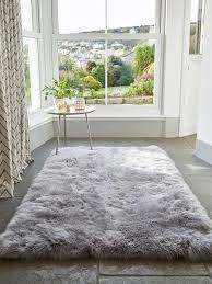 sheepskin rug light grey