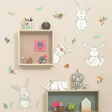 Rabbit Wall Decals Kritters In The Mailbox Rabbit Wall Decal