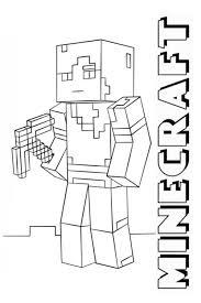 Kleurplaat Minecraft De Mooiste Kleurplaten Milito Nl