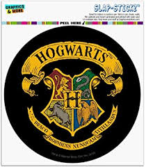 Amazon Com Graphics And More Harry Potter Ilustrated Hogwart S Crest Automotive Car Window Locker Circle Bumper Sticker Automotive