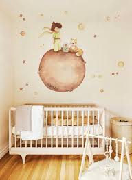 The Little Prince Wall Decal Brown Hair Wall Sticker Nursery Wall Art Kids Room Petit Prince Sticker New Baby Gift Nursery Wall Decor In 2020 Nursery Wall Decor Nursery Wall Art