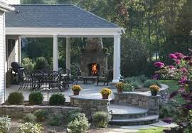 patio designs for outdoor fireplaces