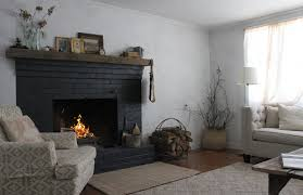 i paint my brick fireplace