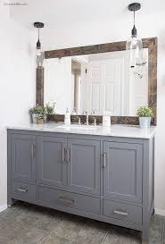 farmhouse bathroom mirror tutorial
