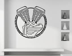 Boss Moto Harley Davidson Panhead Circle Wall Decal Boss Moto Clothing Llc