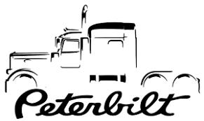 Peterbilt 389 18 Wheeler Truck Outline Sticker Decal Wall Graphic Ebay