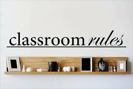 Design With Vinyl Classroom Rules Wall Decal Wayfair