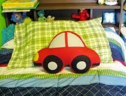 Felt Car Shaped Pillow Boy S Room Baby Nursery Decor Aftcra