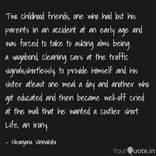 two childhood friends on quotes writings by n jana