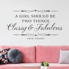 A Girl Should Be Two Things Classy Fabulous Vinyl Wall Etsy Girls Room Wall Decor Room Wall Decor Classy And Fabulous