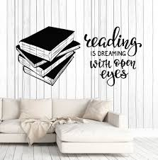 Vinyl Wall Decal Books Quote Reading Room Library Book Shop Stickers Unique Gift Ig4847 Reading Quotes Kids Book Quotes Inspirational Quotes Decals