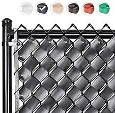 Fenpro Chain Link Fence Privacy Tape Obsidian Black Amazon Co Uk Garden Outdoors