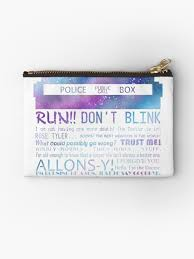 th doctor quotes zipper pouch by kanahyde redbubble