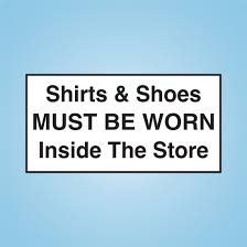 12 X 6 Decal Shirts Shoes Inside Cstore1