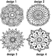 Choose One Mehndi Henna Medallion Wall Decal Lace Drawing Coloring Books Metallic Colors