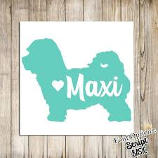 Custom Maltese Dog Name Decal Maltipoo Dog Decal Car Decal Etsy