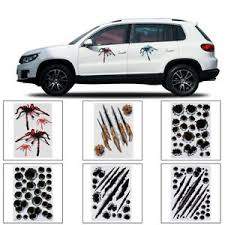 Car Truck Graphics Decals Auto Parts And Vehicles Bloody Zombie Hand Print Sticker Walking Dead Halloween Funny Car Window Decal Megeriancarpet Am