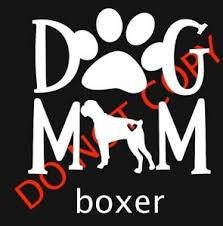 Dog Mom With Boxer Car Window Decal Cute Dog Lovers Paw Print Ebay