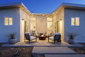 modern outdoor concrete patio porch
