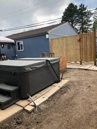 How To Build A Hot Tub Privacy Fence Diy Hometalk