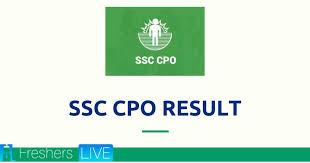 SSC CPO SI 2019 Paper-I Result 2020