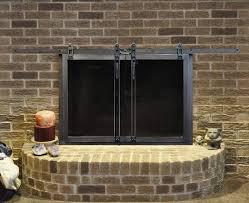 fireplace doors glass aluminum