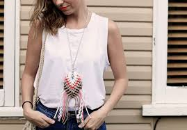 diy roped macrame necklace collective gen