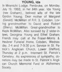 Obituary for Ida YOUNG (Aged 84) - Newspapers.com