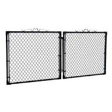 Yardgard 10 Ft W X 4 Ft H Black Drive Through Steel Gate Gda1048pbl At The Home Depot Mobile Steel Gate The Home Depot Steel
