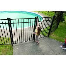 Wayside State Line Of Aluminum Fence 4 5 Ft Georgia Metal Gate Wayfair