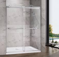 shower frameless glass sliding door