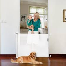 Hot Sale 4819f0 Tall Pet Dog Gate Isolation Ingenious Mesh Dog Fence Retractable Safety Guard Foldable Toddler Stair Indoor Outdoor Dropship Cicig Co