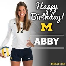 Happy birthday to senior co-captain Abby... - Michigan Volleyball   Facebook