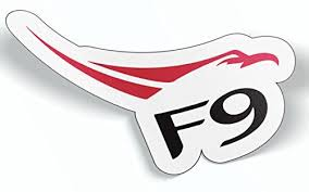 2x Spacex F9 Falcon Logo Car Bumper Laptop Wall Vinyl Die Cut Sticker Decal