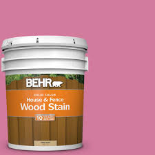 Behr 5 Gal P130 5 Little Bow Pink Solid Color House And Fence Exterior Wood Stain 03005 Exterior Wood Stain Exterior Stain Behr