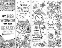 Set Van 8 Bijbel Vers Kleurplaten Bladwijzers Bookmark Etsy