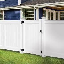 Freedom Emblem 5 Ft H X 4 Ft W White Vinyl Flat Top Fence Gate Lowes Com In 2020 Vinyl Fence White Vinyl Fence Vinyl Gates